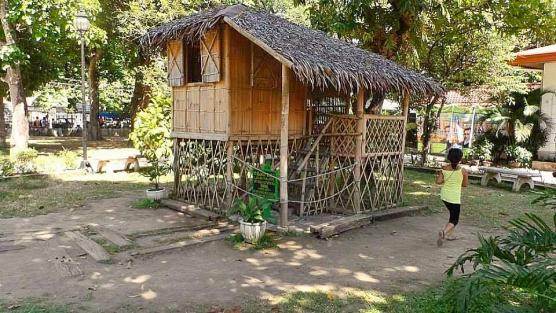 Small nipa hut based on the actual nipa hut of the young pepe and his siblings.
