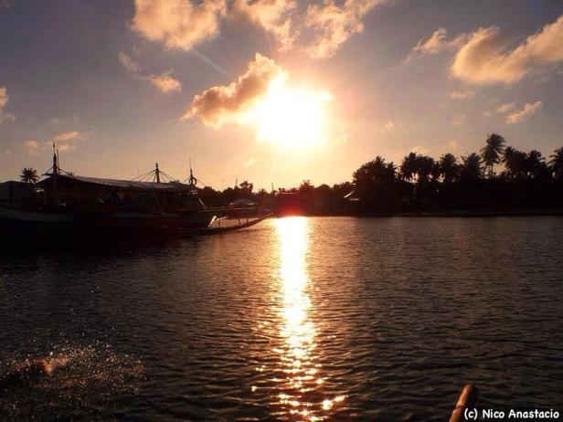 Golden sunset of Cagbalete Island.