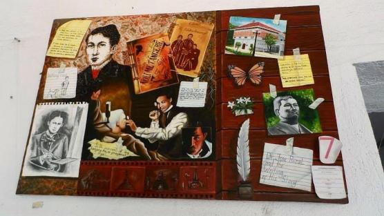 Painting depicting the life and works of Dr. Jose Rizal.