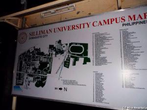 Campus map of Siliman University.