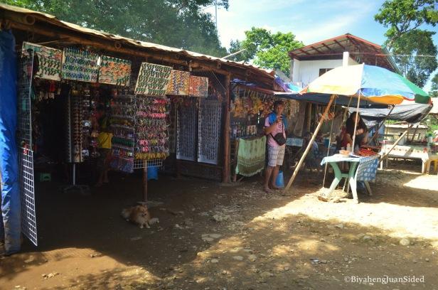 souvenir and food stalls