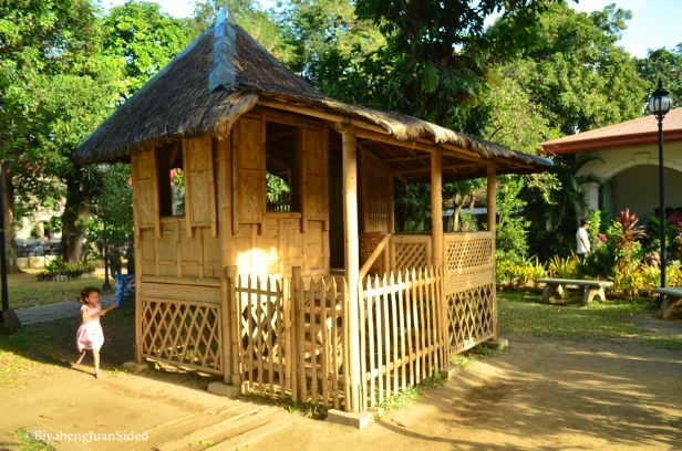 "a replica of the ""bahay kubo"" of the young Pepe"