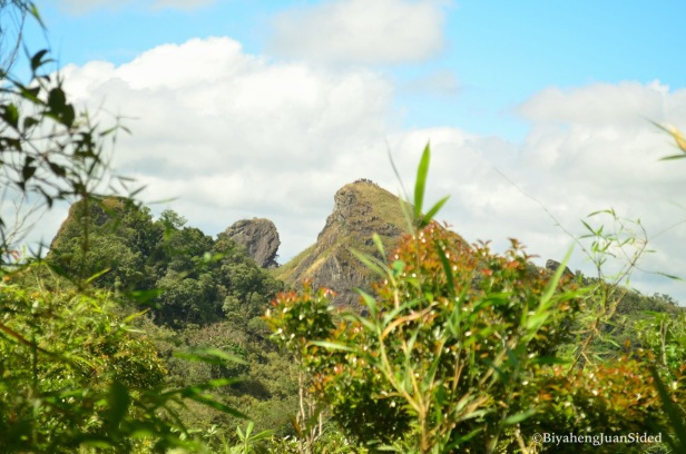 our first sight of the summit and the monolith