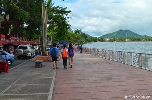 Walking along the