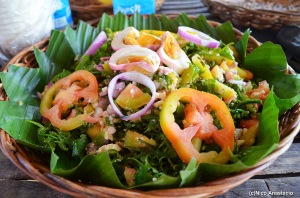 Fresh Paco (Fern) Salad with Salted egg.