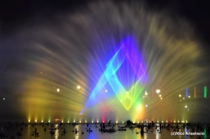 The light and sound show in the park