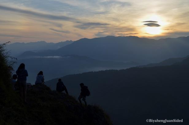 the majestic sunrise on the summit of Marlboro Mountain