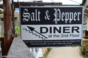 Salt and Pepper Signage as seen from the diner