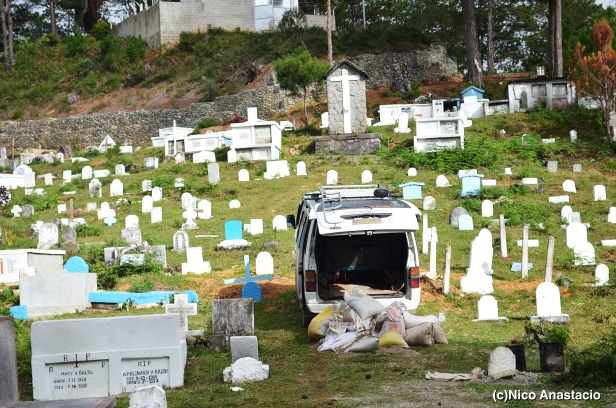 cemetery in the mountain