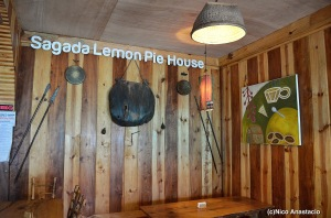 the interior of the Sagada Lemon Pie house near the entrance