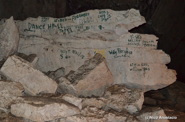 vandals inside the Lumiang cave that dated  more than a decade