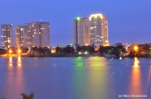 a view of the city from the other side of the Saigon River