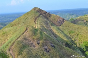 Our first view of the snake-like trail of Mt. batulao