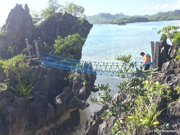 Old hanging bridge within the Aga Islet