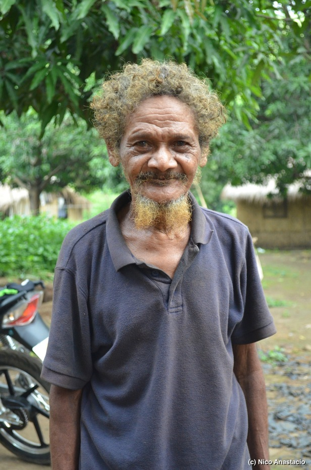 Mr. Domingo Maingat, the oldest man at the Aeta Community, who was 90 years old during our visit