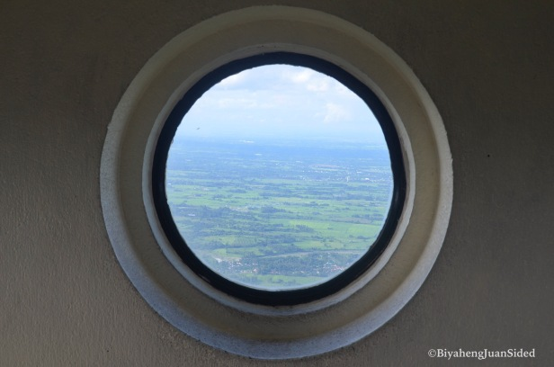 one of the windows from the tip of the viewing deck