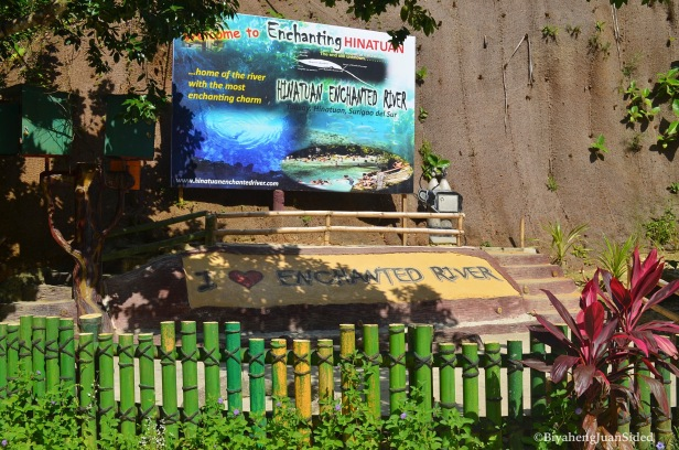 the big signpost inside the river ecopark
