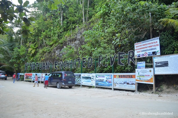 the big signage outside the river ecopark