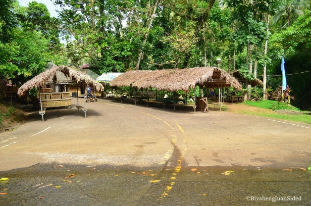 small huts that can be rented out at the ecopark