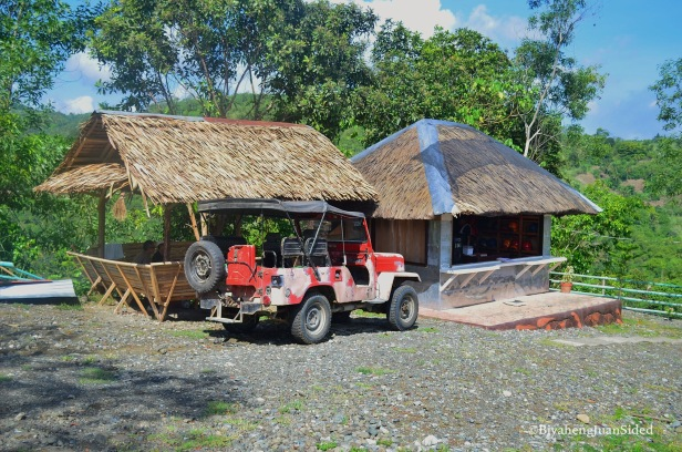 small nipa huts where you will do your registration