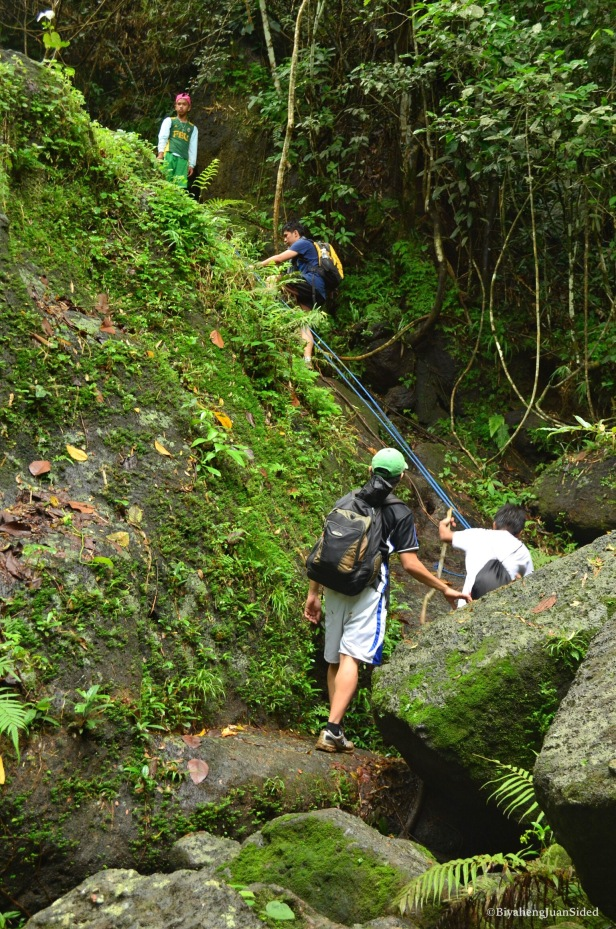 simple rock climbing going to Talay Falls