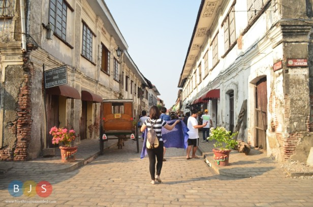 the world famous street of Vigan