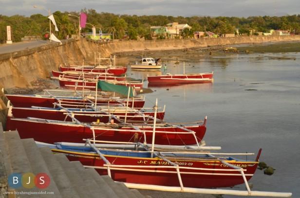 Bancas near the port of Currimao
