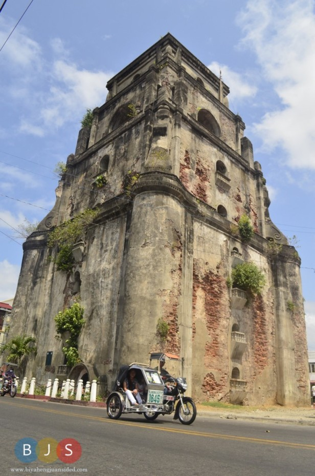 the sinking bell tower of Laoag
